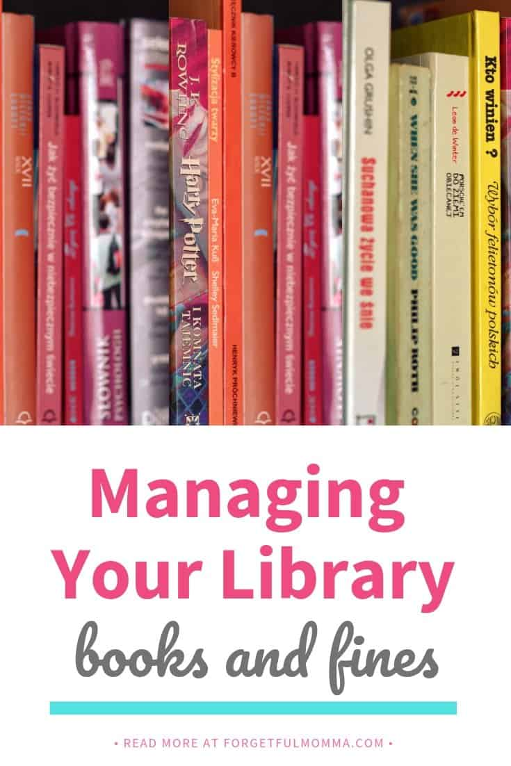 Managing Your Library Books and Fines