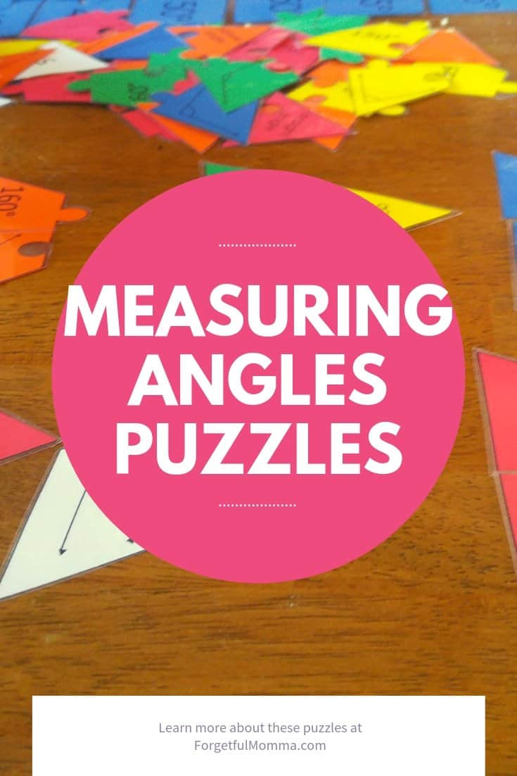 Measuring angles Puzzles - angles puzzle