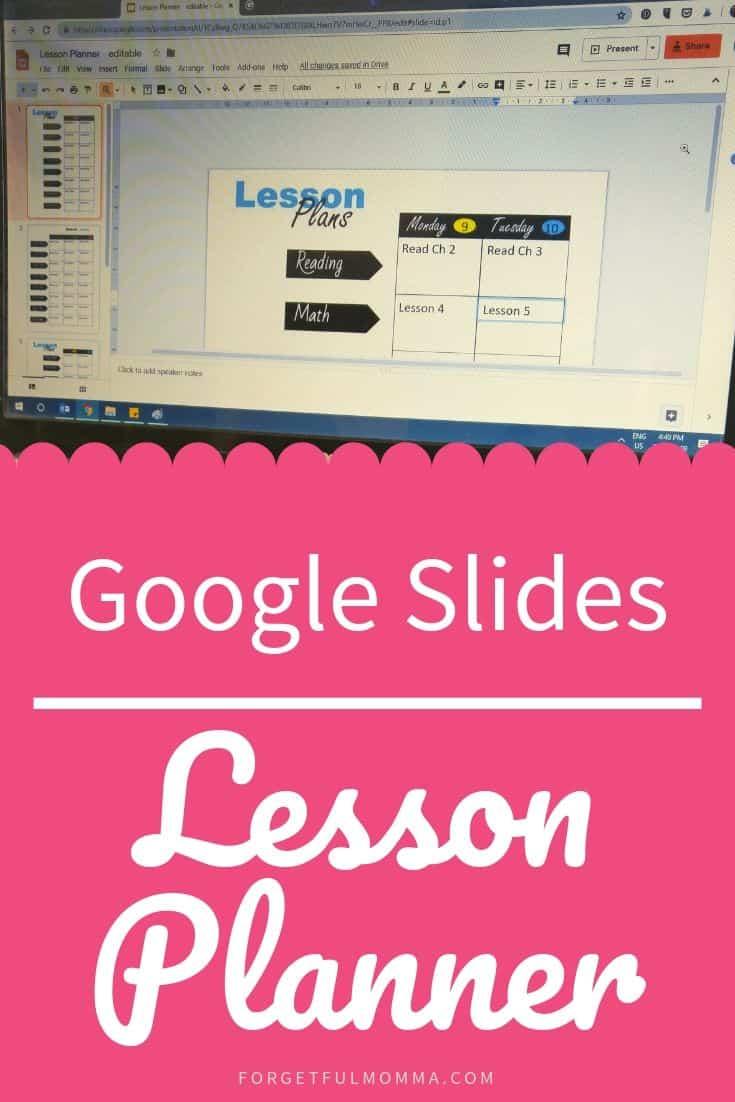 Google Slides Lesson Planner