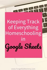 Keeping Track of EVERYTHING in Google Sheets