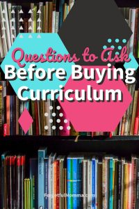 Questions to Ask Before Buying Curriculum