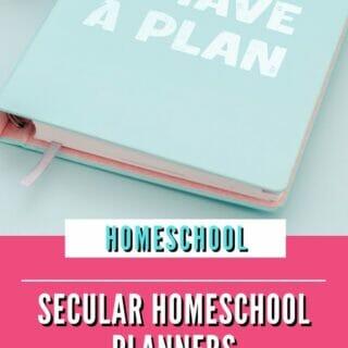 Secular Homeschool Planners