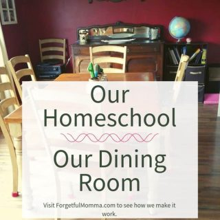 Our Homeschool Rooms - Our Dining Room