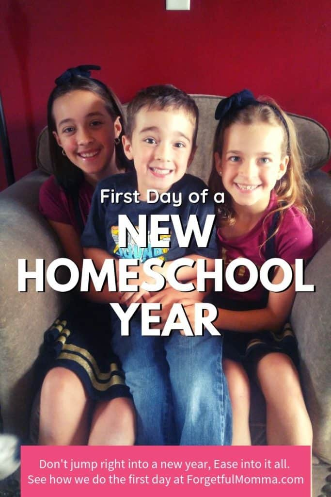 First Day of a New Homeschool Year