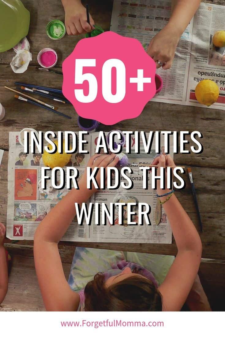 50+ Indoor Kids Activities