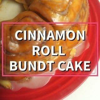 Cinnamon roll bundt cake