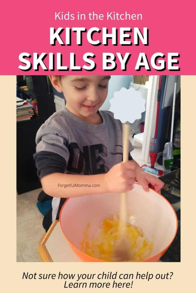 Kids in the Kitchen - Kitchen Skills By Age