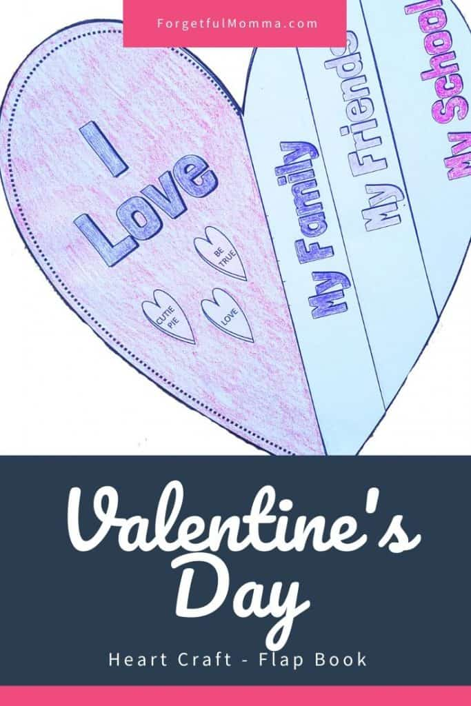Valentine's Day Heart Craft - Flap Book