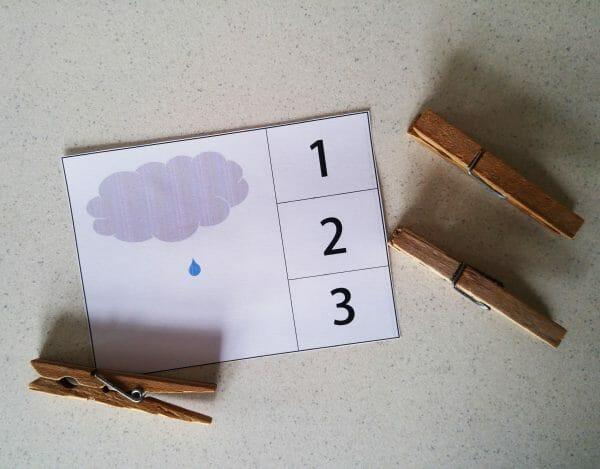 Rain Cloud Practice Counting