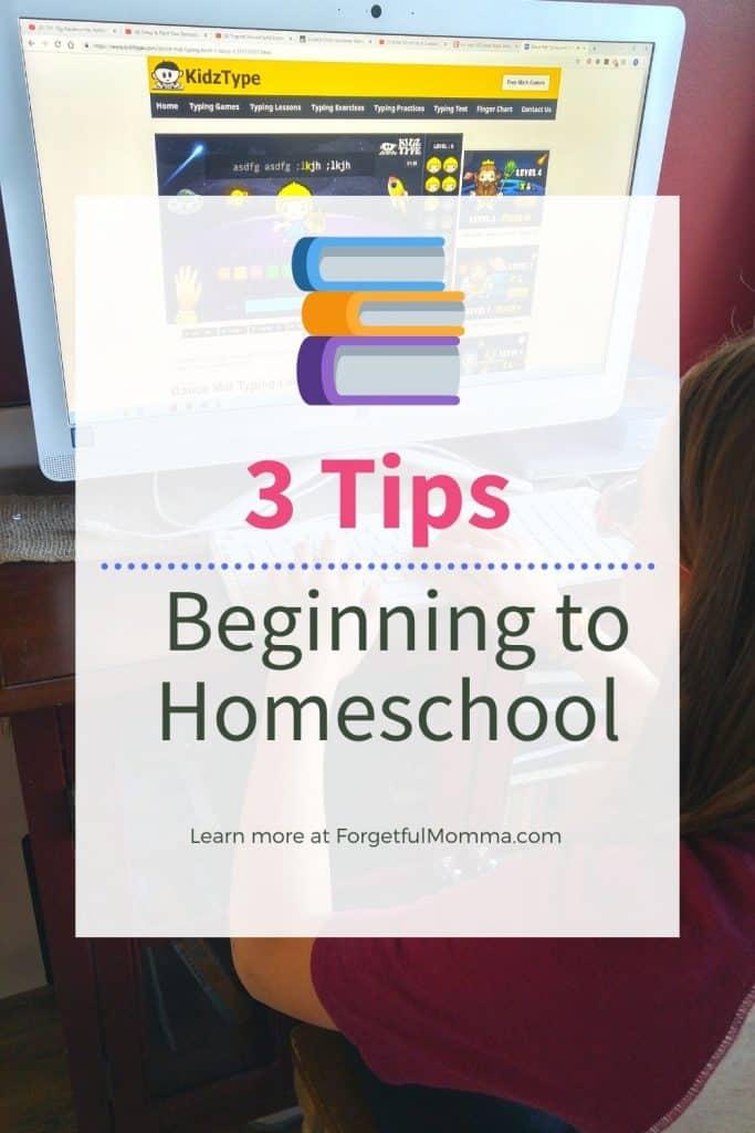 Homeschool Tips for Beginners - 3 tips beginning to homeschool