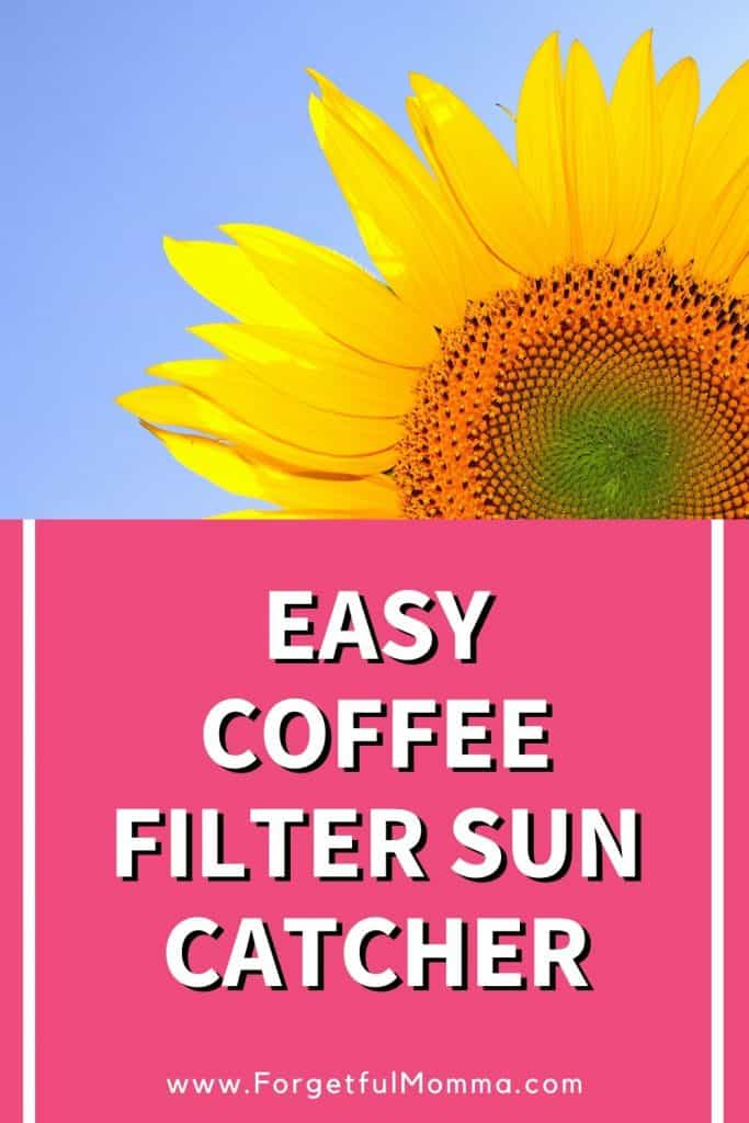 Easy Coffee Filter Sun Catcher
