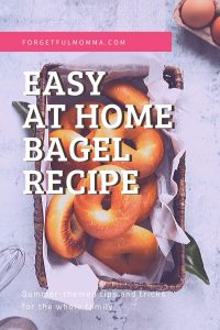 Easy Homemade Bagel with or with a bread machine - bagels in basket