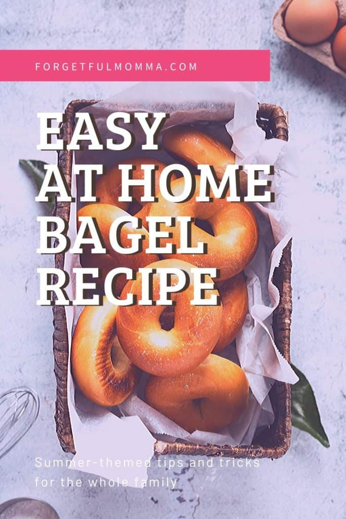 Homemade Bagel recipe - bagels in a basket