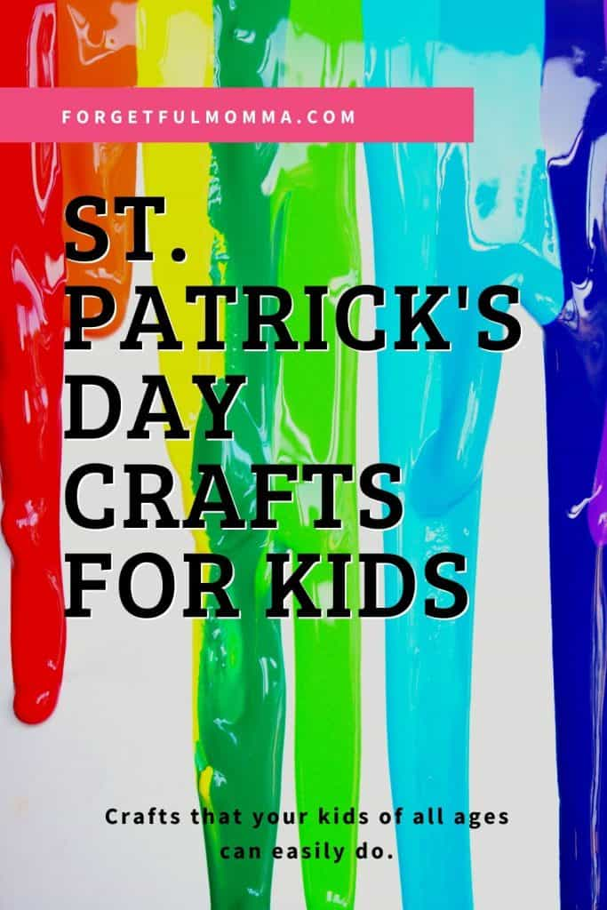St. Patrick's Day Crafts for Kids melted colored crayons