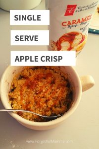 single serve apple crisp