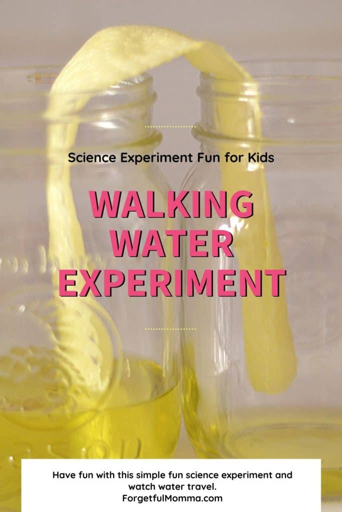 Walking water science experiment