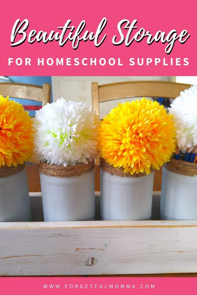 Storage for Homeschool Supplies