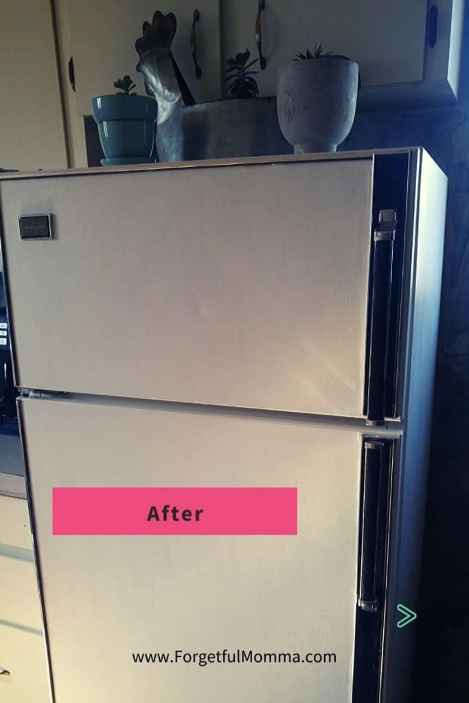 Updating a Fridge on A Budget - Painting Our Fridge after - clean white fridge
