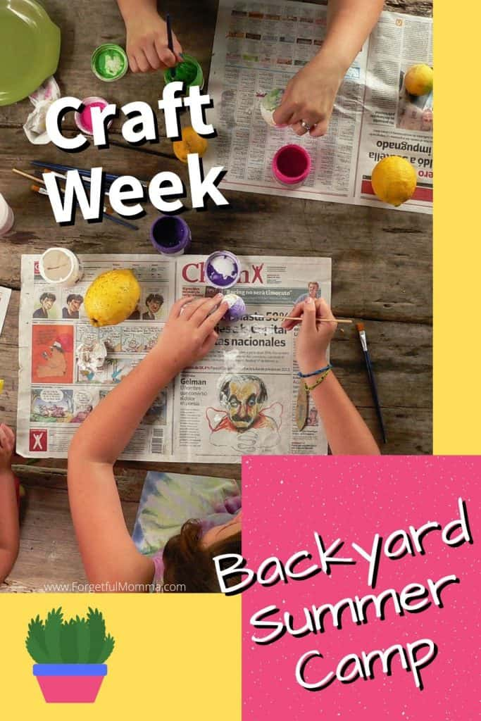 Backyard Summer Camp_ crafts theme