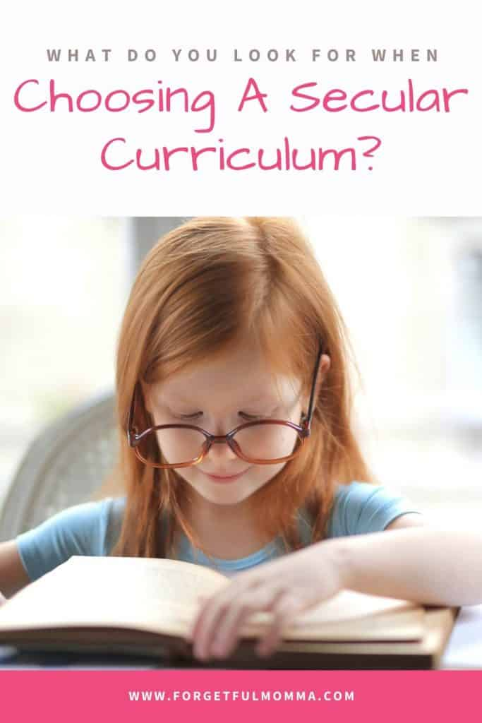 Choosing A Secular Curriculum?