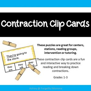 Contraction clip cards-product cover