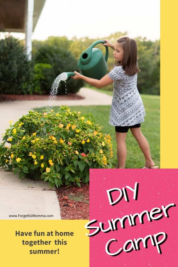 DIY Summer Camp - girl watering flowers