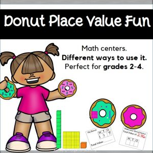 Donut place value - hundreds, tens, ones