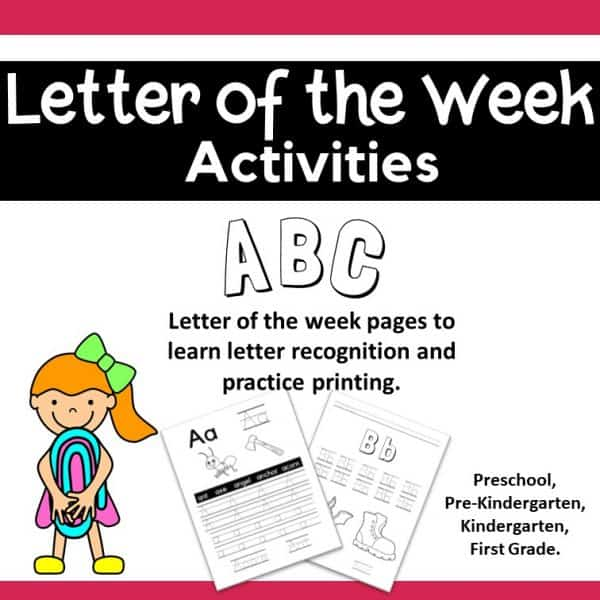 Alphabet Letter of the Week