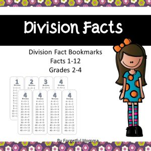 Division Bookmark Flashcards product cover