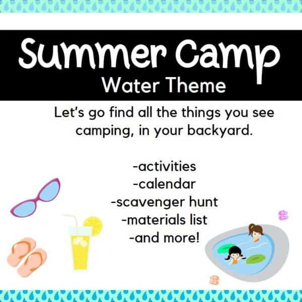 Backyard Summer Camp: Water Theme