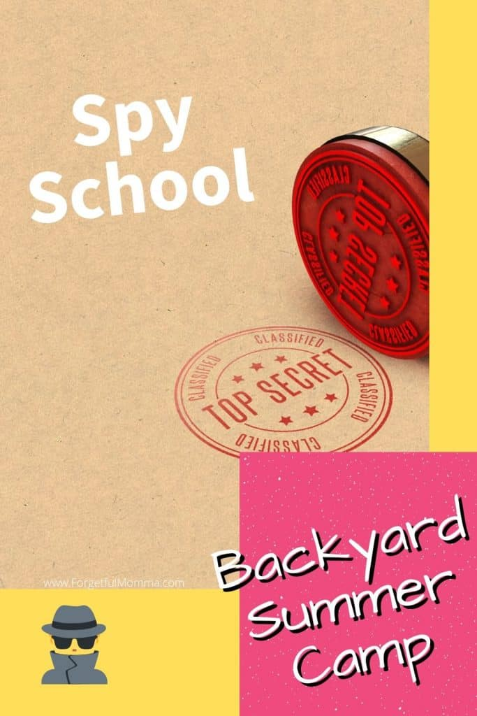 Backyard Summer Camp: spy school