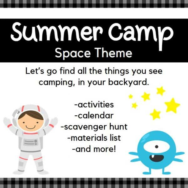 Backyard Summer Camp: Space Theme