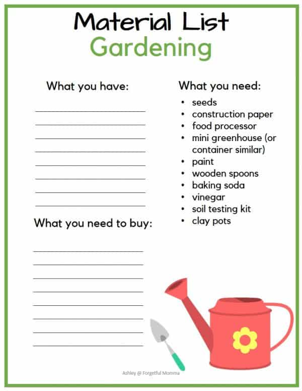 Backyard Summer Camp: Gardening Theme