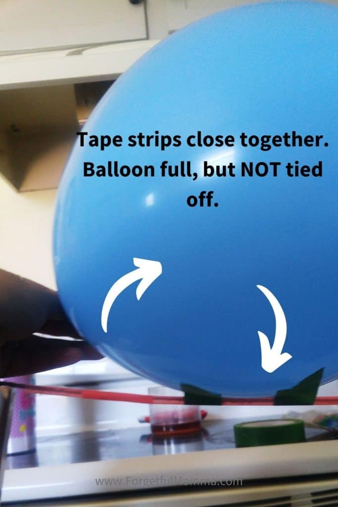 Balloon Rockets - balloon taped to straw on string
