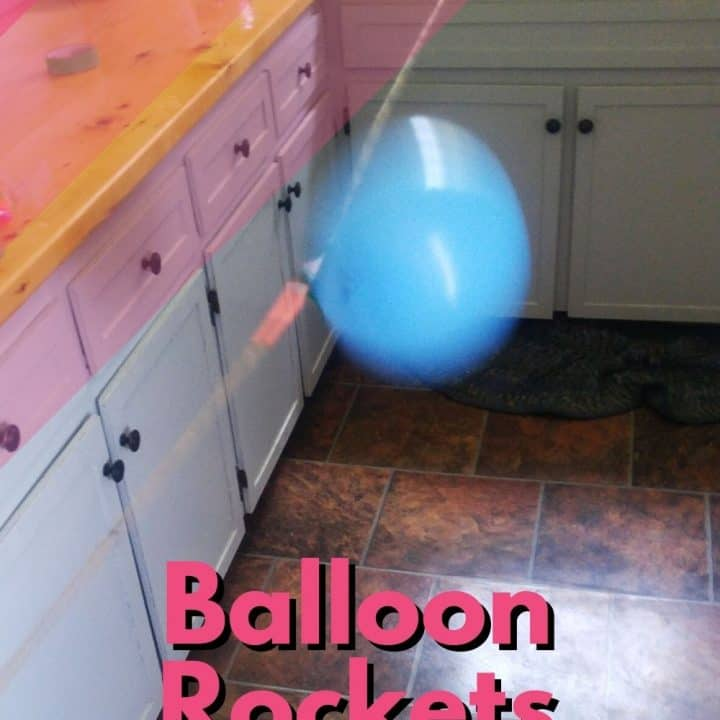 Balloon Rockets - rocketing on the string.