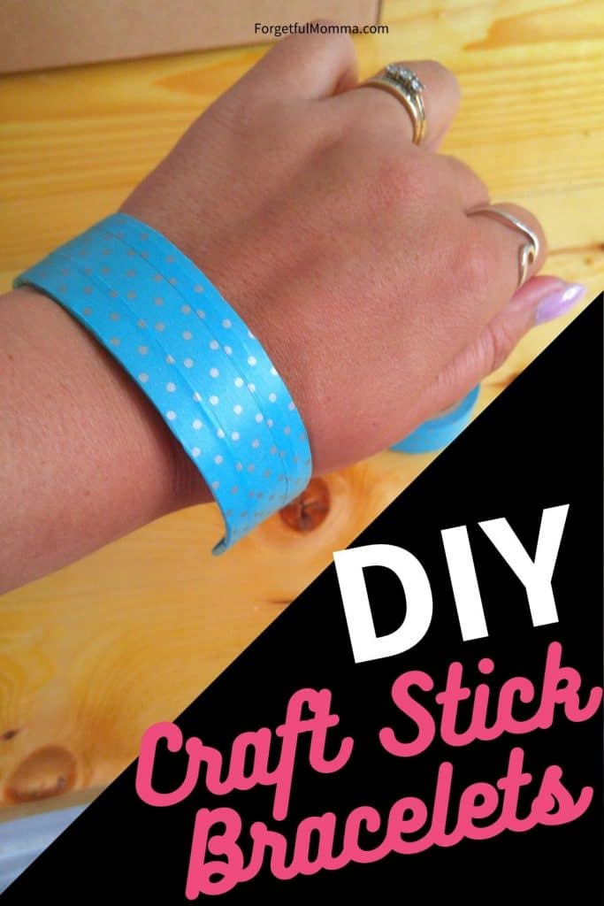 Craft Stick Bracelets - bracelet on wrist