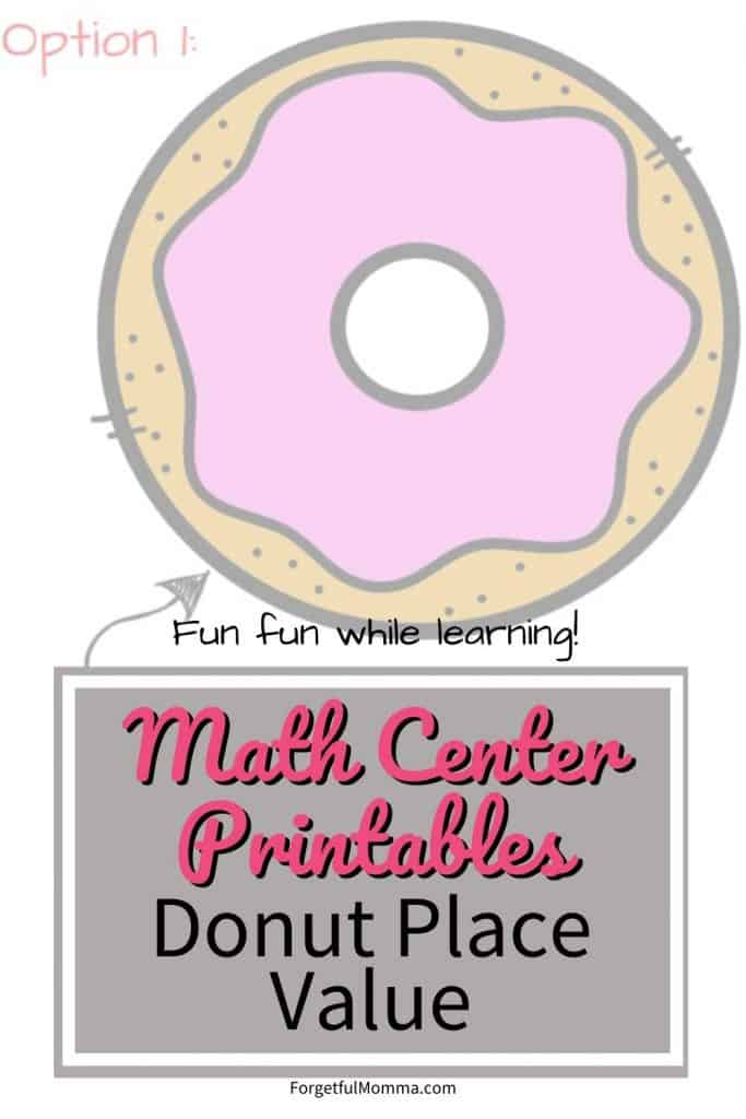 Donut Place Value Math Center