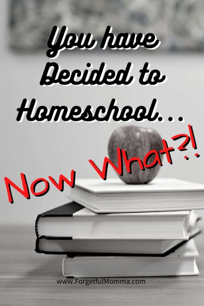 You have Decided to Homeschool.