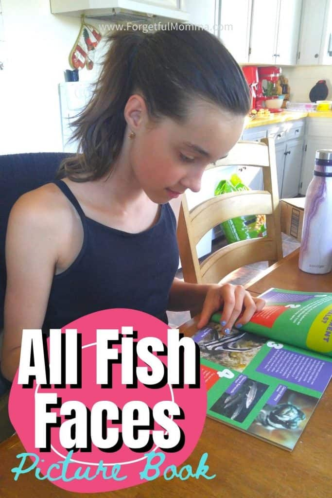 All fish Face Picture Book - girl reading a book