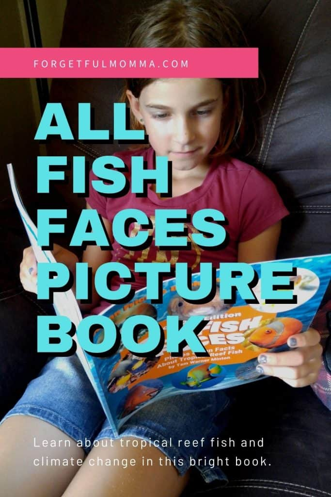All Fish Faces Picture Book - girl reading book