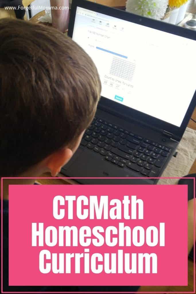 CTCMath Homeschool Curriculum - child doing math on a laptop