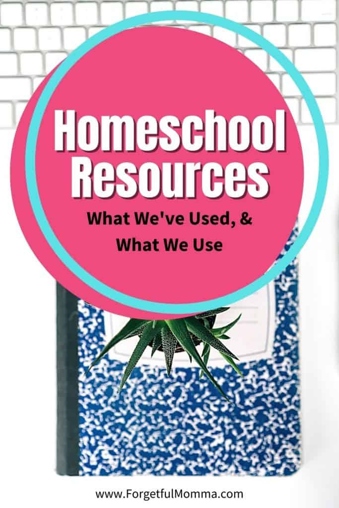 Homeschool Resources - What We've Used and Use