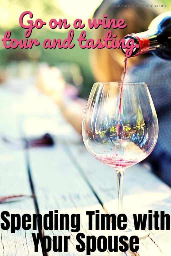 Spending Time with Your Spouse - pouring wine