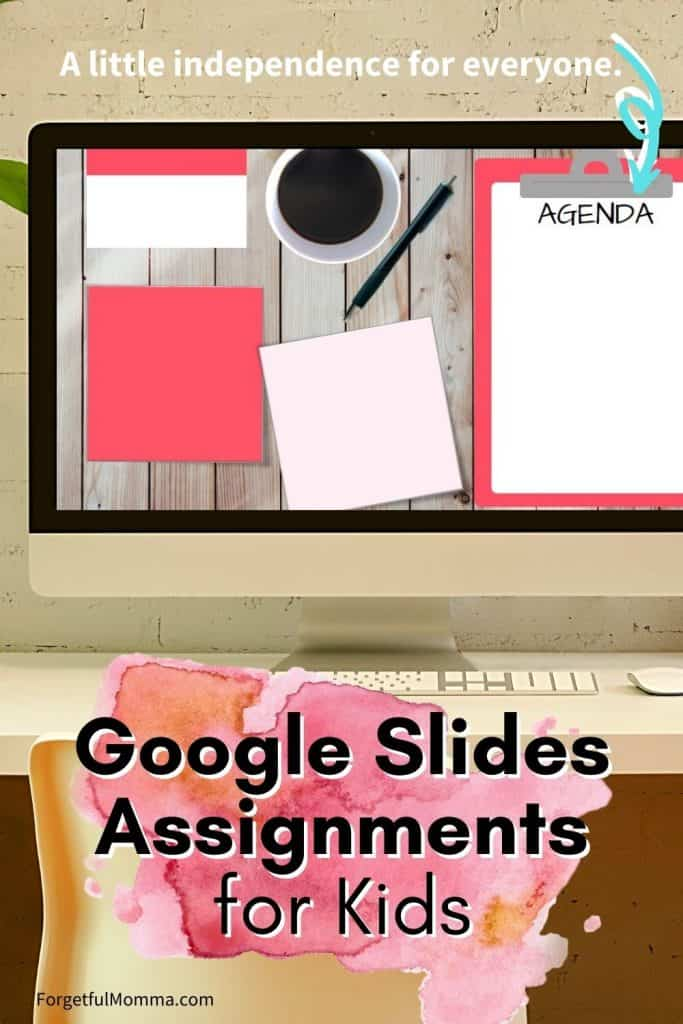 Daily Assignment Pages for Google Classroom & Slides google classroom for homeschooling assignments