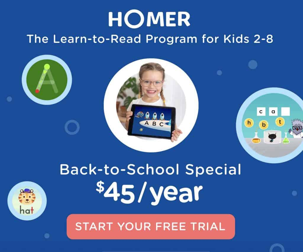 HOMER for Homeschool Early Literacy Skills