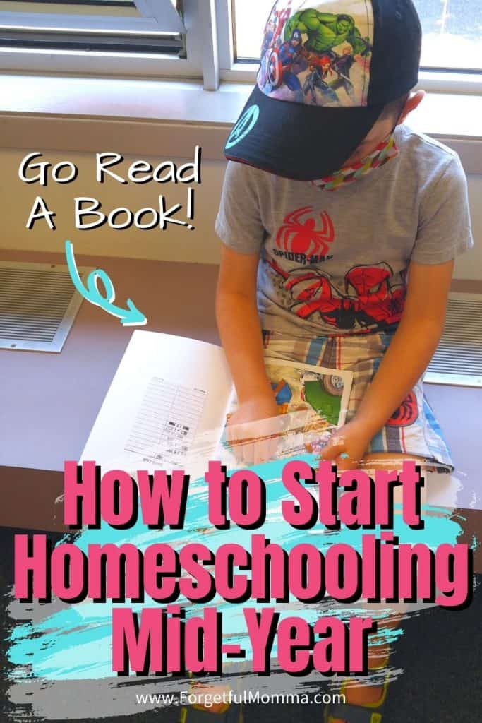 How to Start Homeschooling Mid-Year - boy reading a book