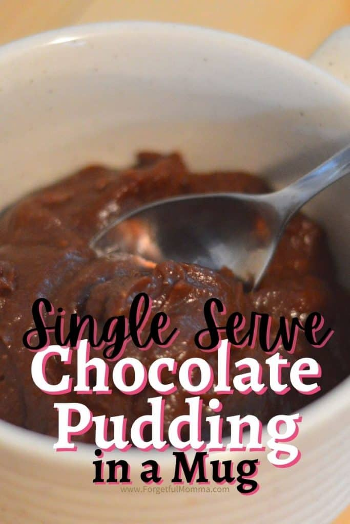 Single Serve Chocolate Pudding in A Mug