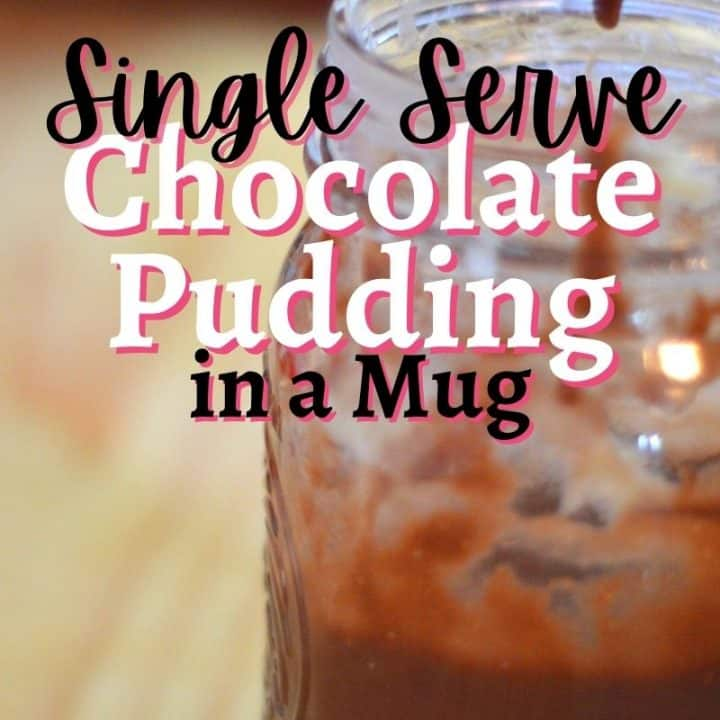 single serve pudding recipe - Chocolate pudding