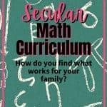 Secular Math Curriculum