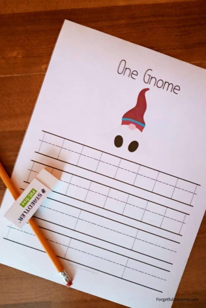 Christmas Gnome Math set